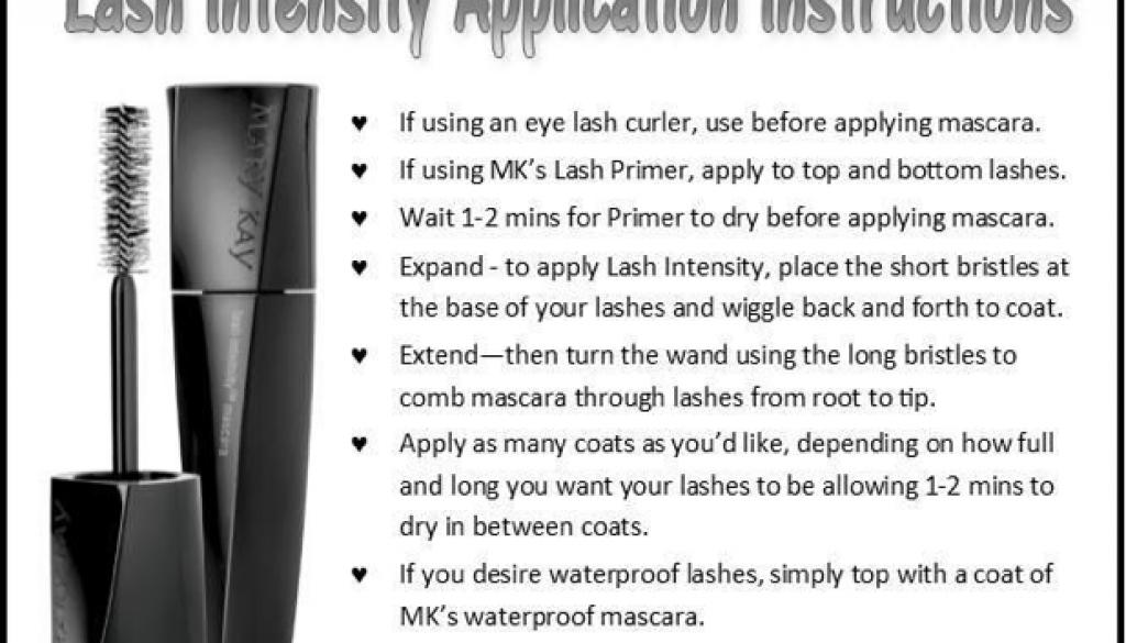 Lash Intensity Application Instructions
