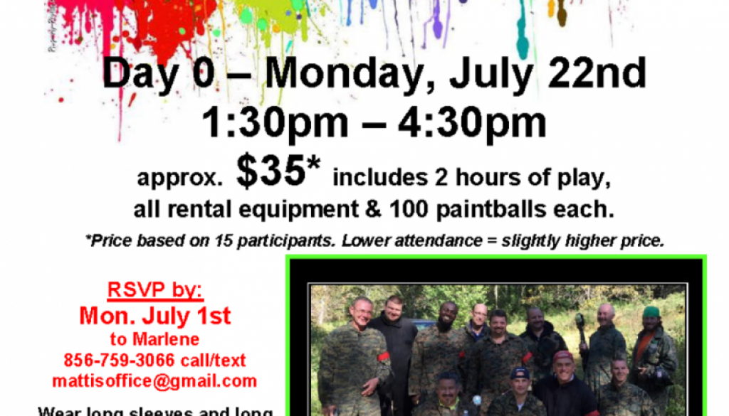 Men's Paintball - Events